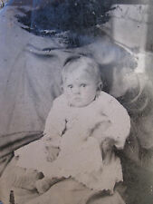 "ANTIQUE AMERICAN HIDDEN ""MOTHER"" AFRICAN AMERICAN NANNY MAMMY RARE TINTYPE PHOTO"