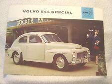VOLVO 544 SPECIAL 1960 DEALER SALES BROCHURE   UR 6921.8.60.100000