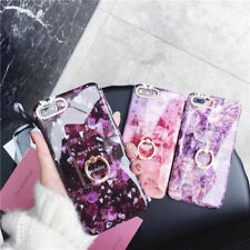 Crystal Marble Diamond Ring Holder Phone Case Cover For iPhone 6s 7 8 Plus X XR