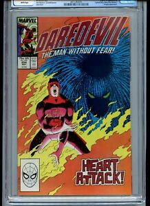 Daredevil #254 CGC 9.8 White Pages 1st Typhoid Mary