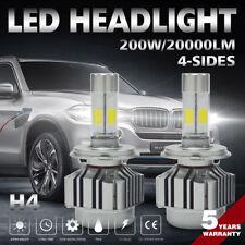 200W 20000LM H4 HB2 9003 LED Headlight Bulb Kit 4Side 6000K Hi/Low Beam Lamp 7FP