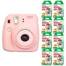 Fuji Instax Mini 8 Fujifilm Instant Film Camera Pink + 160 Sheets Instant Film