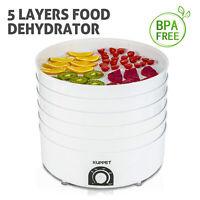 520W 5 Tray Electric Food Dryer Dehydrator Machine Fruit Beef Vegetable Jerky