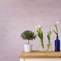 Modern Wallpaper rolls Plain pink metallic faux plaster Textured striped lines