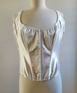 Frederick's of Hollywood white Plus Size 3x Overbust Corset