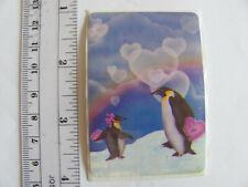 Large Vintage Acard Stickermania Penguins Glossy Sticker big penguin facing left