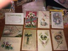 9 Vintage Easter Potcards 1920's