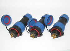 SP21 Bulkhead IP68 Waterproof Plug and Socket Connector 500V / 30A Multipole