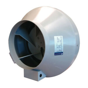 """Systemair RVK Sileo Plastic Case Inline Duct Fan 4"""" 5"""" 6"""" 8"""" 10"""" 12"""" Hydroponics"""