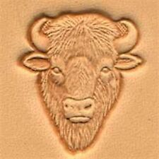 8458 Buffalo Head Craftool 3-D Stamp Tandy Leather 88458-00