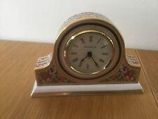 Wedgwood Porcelain Napoleon Hat Shaped Mantle Clock Clio 1992.