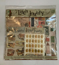 K & Company Life's Journey Paper Kit 670181 6 Flat 12x12 Papers Stickers Sealed