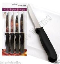 4 Pk Steak Knife Set Serrated Edge Knives Stainless Steel Kitchen Cutlery Dinner