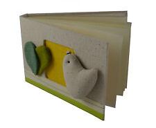 Gilde Einsteck-Fotoalbum beige Vogel Seiten f. 40 Bilder Baby-Album Buch NEU&OVP
