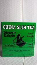 CHINA SLIM TEA 36 BAGS DIETER'S DELIGHT EXP.03/19  UNISEX DIETARY SUPPLEMENT