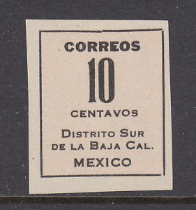 Mexico Sc 404a MNG. 1914 10c Baja California without seal, fresh, VF