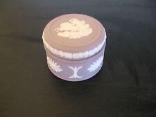 Wedgwood Lilac Mauve Jasperware Round Pill Box