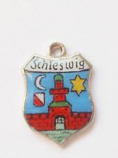 Schleswig , Denmark/Germany    vintage sterling silver and enamel travel charm