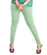 Indian Churidar Lyra Legging Women Pista Green Cotton Stretch For Kurta Kurti