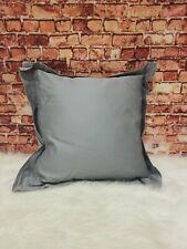"Hudson Park Collection 800TC TOB Gray 16""x16"" Decorative Pillow"
