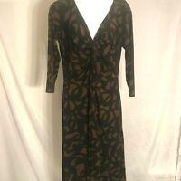 Van Heusen brown and black dress size 10