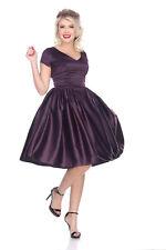 Bettie Page Rita Dress - Solid Purple