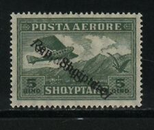 Albania Hinged Sc C8a Double Overprint , 1 Inverted