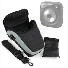 Black & Silver Case W/ Shoulder Strap for The Fujifilm Instax Square SQ10 Camera