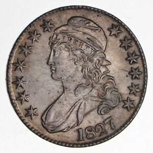 1827 Capped Bust Half Dollar - Uncirculated *1882
