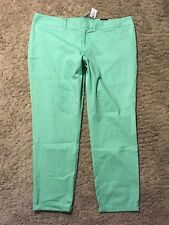 NWT THE LIMITED GREEN STRAIGHT ANKLE PANTS size 14 NEW Beautiful E88