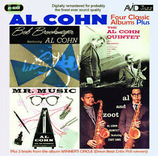 AL COHN ~ 4 CLASSIC JAZZ ALBUMS NEW 2CD FEATURES BOB BROOKMEYER  2 HOURS + MUSIC