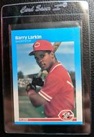 1987 FLEER #204 BARRY LARKIN ROOKIE CARD RC CINCINNATI REDS HOF MINT