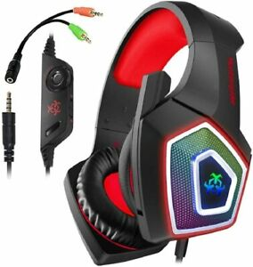 PS4  Gaming Headset Xbox Gaming Headphone  Noise Canceling Microphone