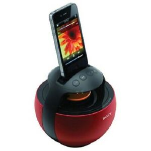 Sony RDP-V20iP Portable Dock Speaker Made for iPod/iPhone Red