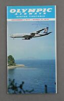 OLYMPIC AIRWAYS AIRLINE TIMETABLE WINTER 1977-78 OA FLEET PICTURES ROUTE MAP