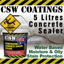 5L Concrete Sealer - Moisture & Oily Stain Protection - Non Slip - Water Based