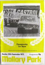 Mallory park 30th sep 1973 barc motor racing programme officiel