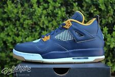 NIKE AIR JORDAN 4 RETRO GS IV SZ 4.5 Y MIDNIGHT NAVY DUNK FROM ABOVE 408452 425