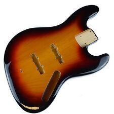 Jazz Bass Guitare électrique corps 2 pièces USA Alder - 3 couleurs Sunburst