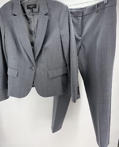 Talbots Petites 2 Piece Pant Suit Gray Size 12P