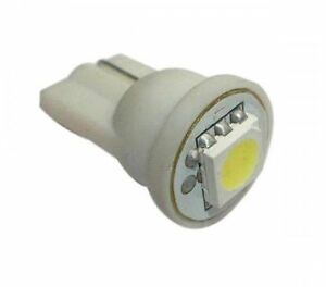 N°2 Lights LED Lamps White 5000K Base T10 W5W for Car Moto Positions Plate