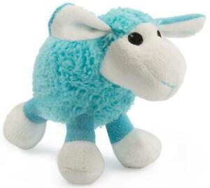 Ancol Cute Plush Lamb Soft Cuddly Comforter Puppy Small Dog Blue Toy 15 x 7 cm