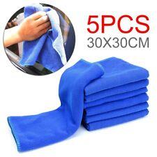 5Pcs 30*30cm Small Microfiber Towel Car Washing Cleaning Wax Polishing Cloth Set