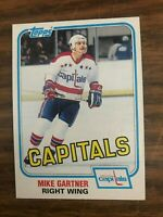 1981-82 Topps East  #117 Mike Gartner  Washington Capitals NrMt