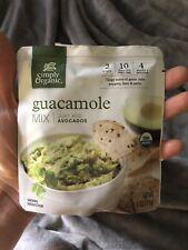 Simply Organic Guacamole Dip Mix Spicy Tex Mex dinner Case of 18 4oz