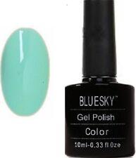 Blue Sky Shiny Gel and Shellac Polish