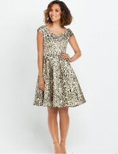 BNWOT Myleene Klass Animal Print Jacquard Evening Occasion Dress Size 12 NEW