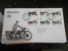 ROYAL MAIL FIRST DAY COVER - MOTORCYCLES - SOLIHULL FRANKED 19-7-2005