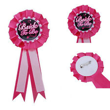 Sposa To Be Badge Rosette Hen Night Addio al nubilato Party Accessorio da sposaW