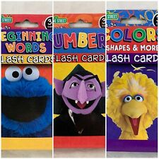 Sesame Street Flash Cards Lot of 3 Decks Beginning Words Numbers Colors Shapes +